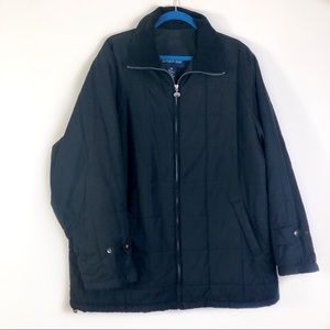London Fog Black Quilted Jacket Size XL